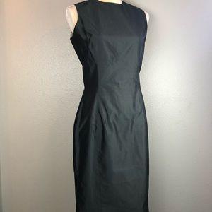 Zang Toi Silk Gray Pedal Hem Dress 4 Handcrafted